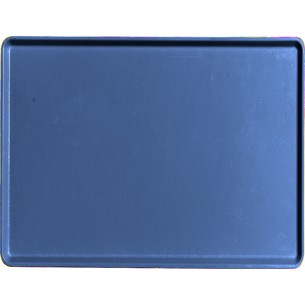 "Amazon Blue, 15"" x 20"" Healthcare Food Trays, Low Profile, 12/PK"