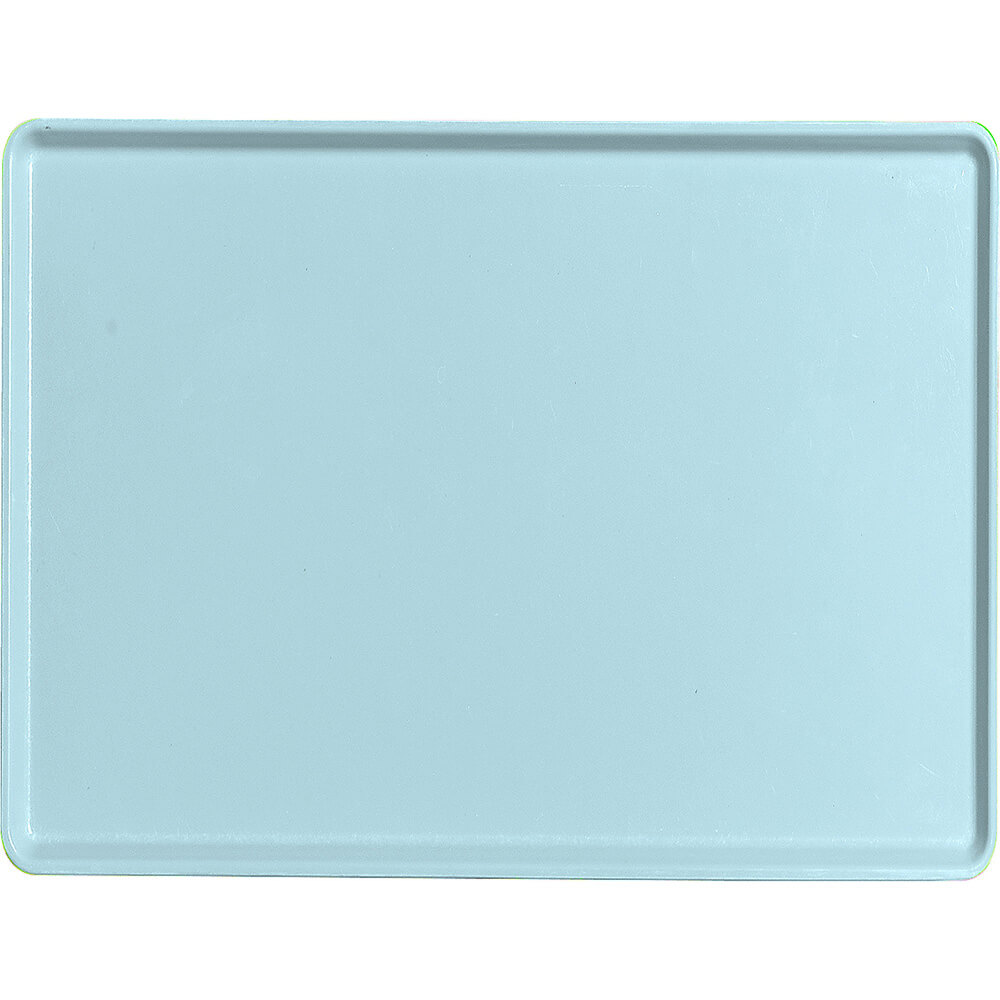 "Sky Blue, 15"" x 20"" Healthcare Food Trays, Low Profile, 12/PK"