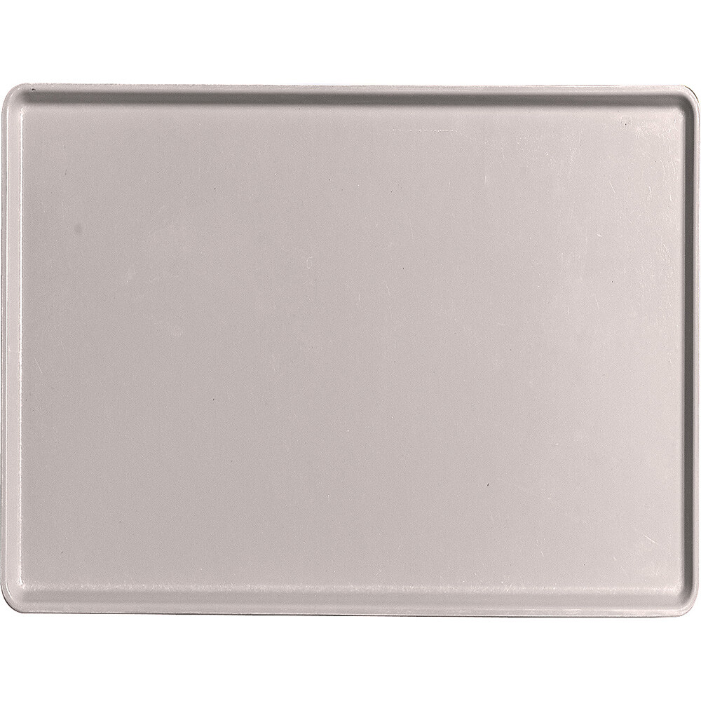 "Taupe, 15"" x 20"" Healthcare Food Trays, Low Profile, 12/PK"