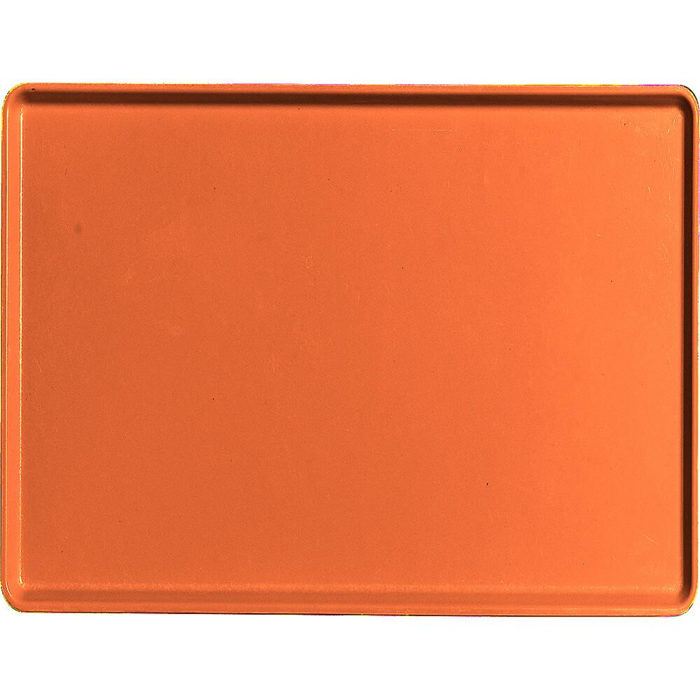 "Citrus Orange, 15"" x 20"" Healthcare Food Trays, Low Profile, 12/PK"