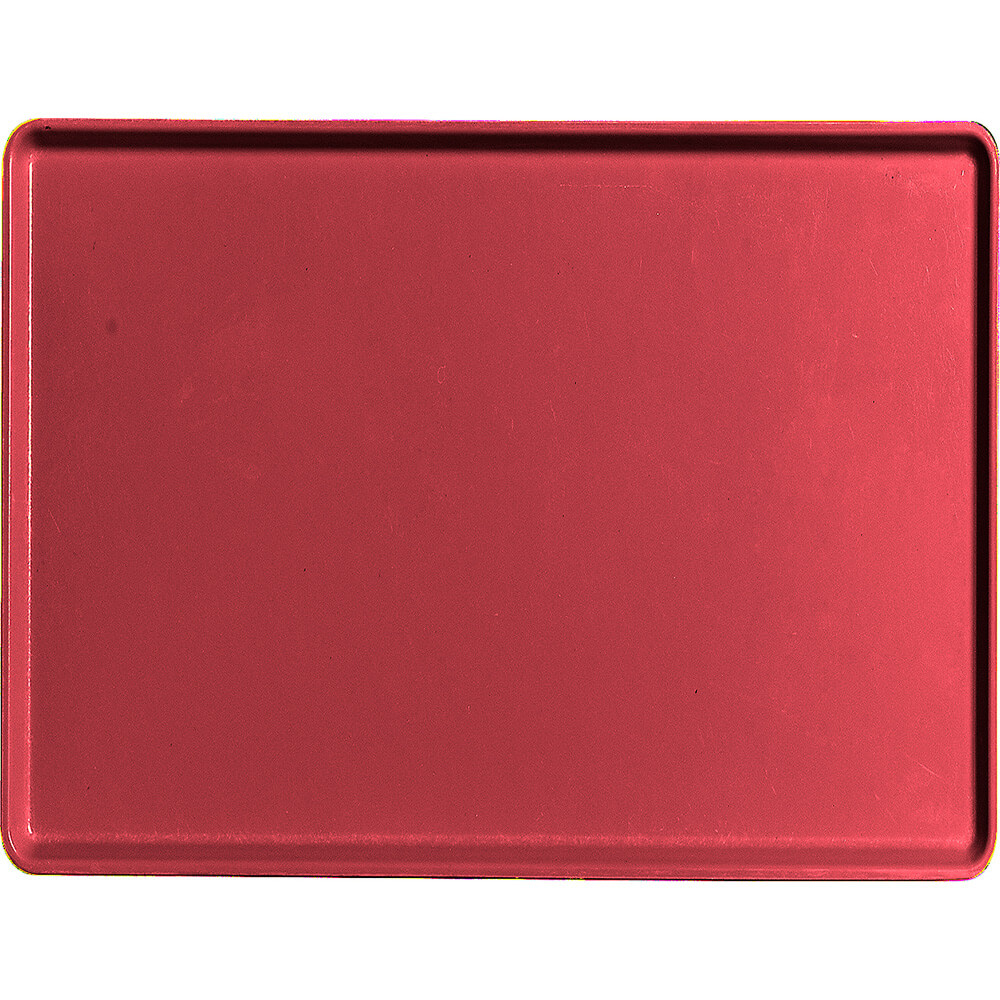 "Ever Red, 15"" x 20"" Healthcare Food Trays, Low Profile, 12/PK"