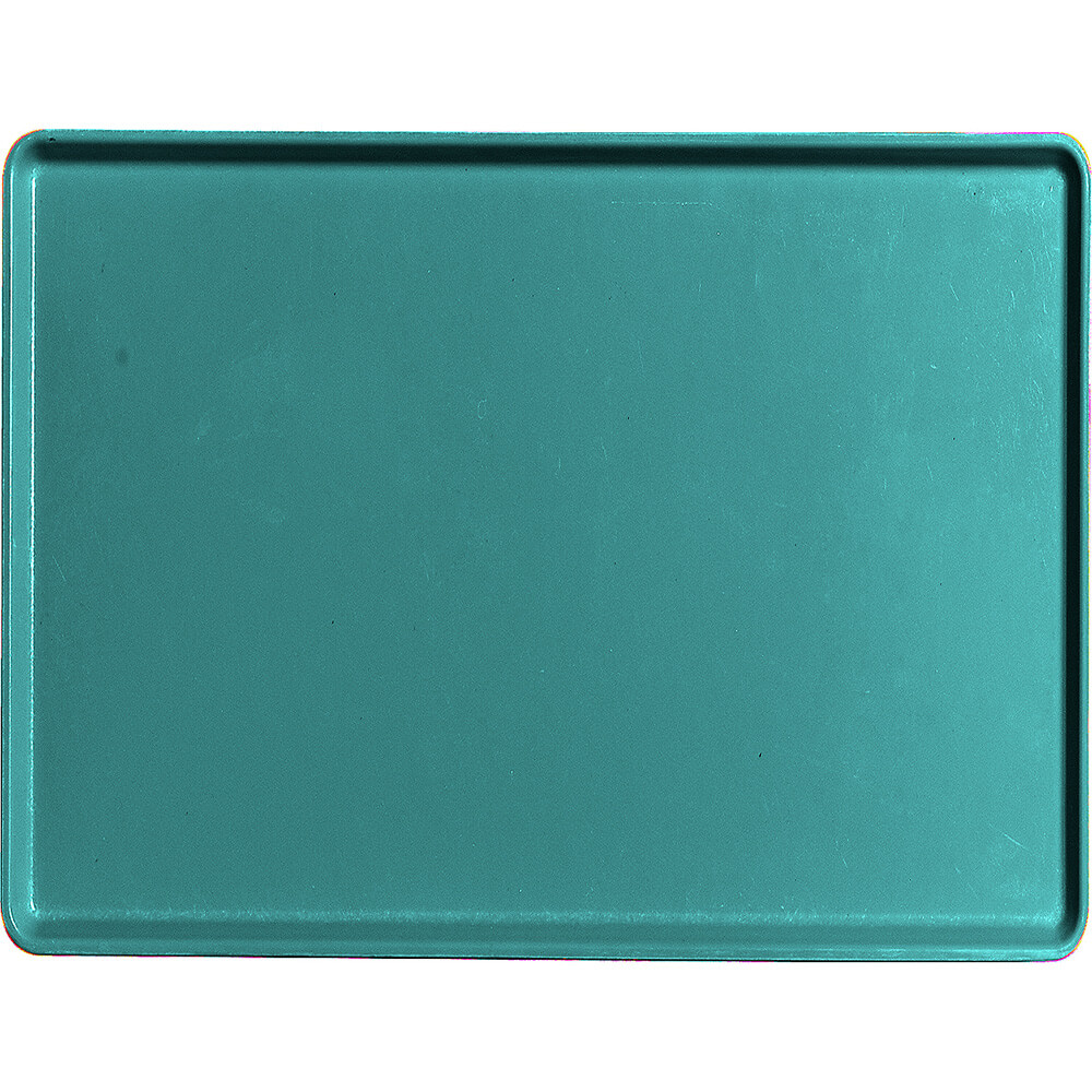 "Teal, 15"" x 20"" Healthcare Food Trays, Low Profile, 12/PK"
