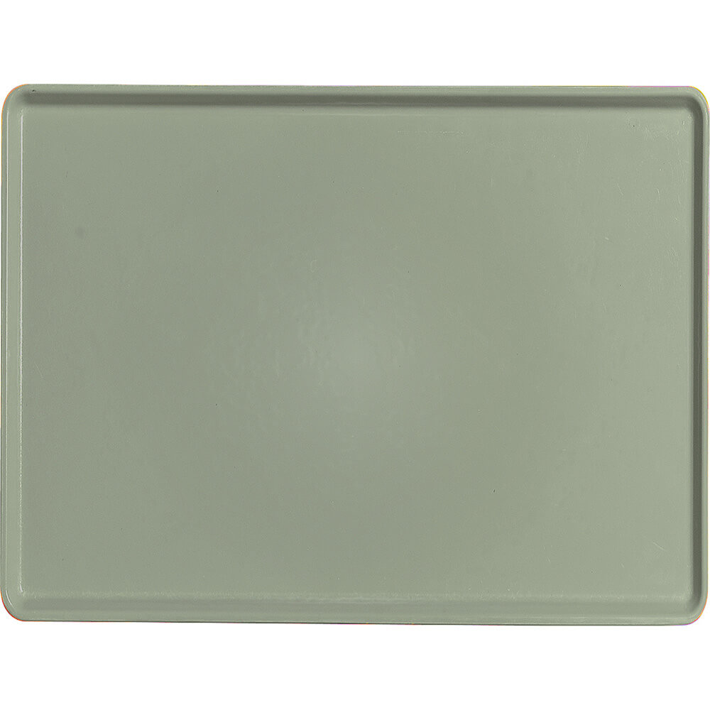 "Olive Green, 15"" x 20"" Healthcare Food Trays, Low Profile, 12/PK"