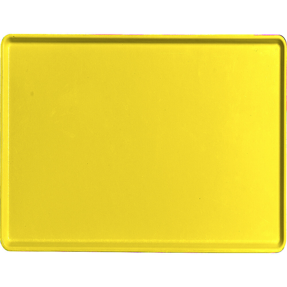 "Mustard, 15"" x 20"" Healthcare Food Trays, Low Profile, 12/PK"