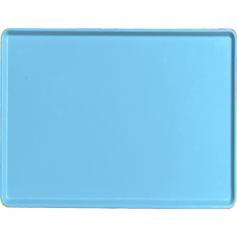 "Robin Egg Blue, 15"" x 20"" Healthcare Food Trays, Low Profile, 12/PK"