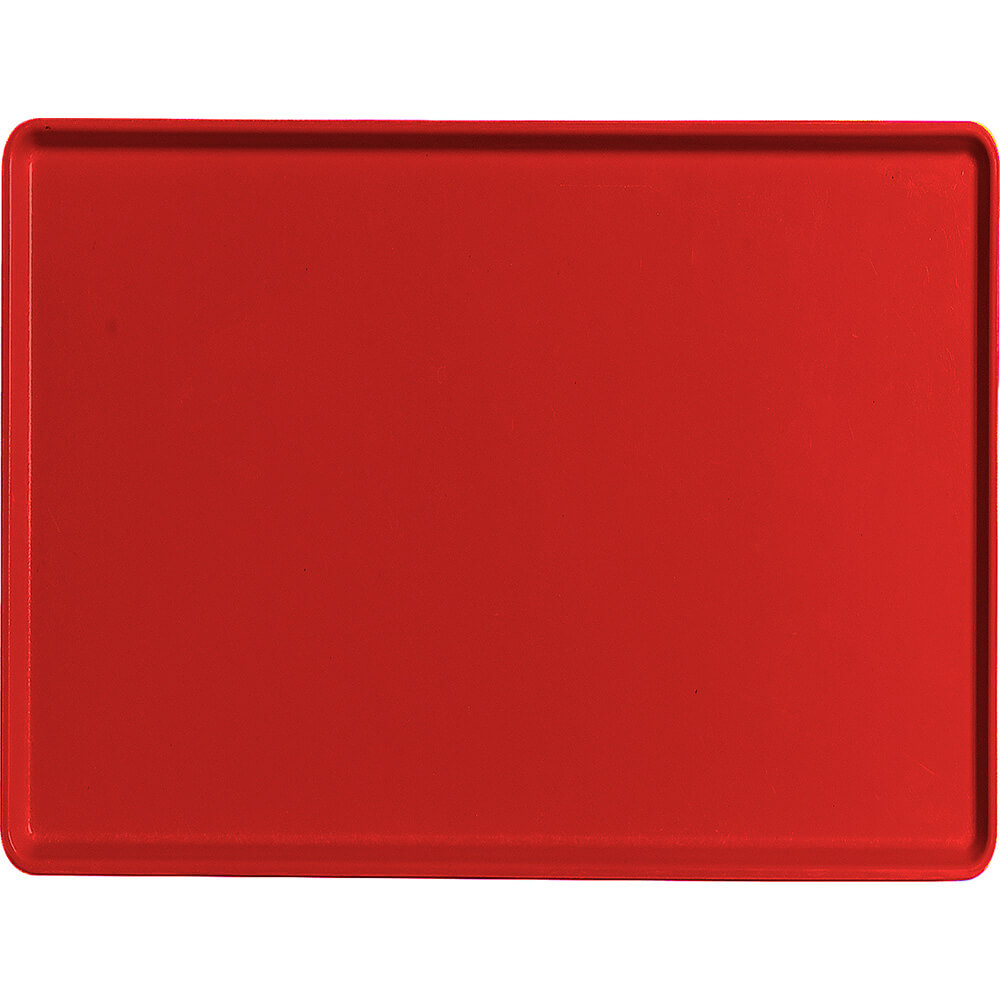 "Cambro Red, 15"" x 20"" Healthcare Food Trays, Low Profile, 12/PK"
