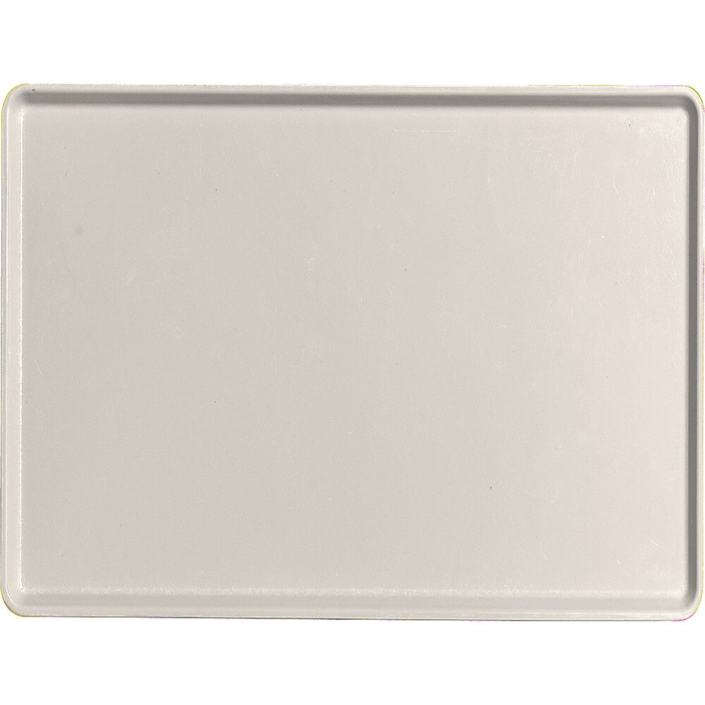 "Cottage White, 15"" x 20"" Healthcare Food Trays, Low Profile, 12/PK"