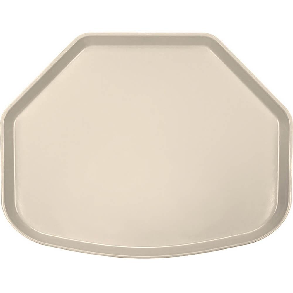 "Desert Tan, 15"" x 20"" Trapezoid Food Trays, Fiberglass, 12/PK"