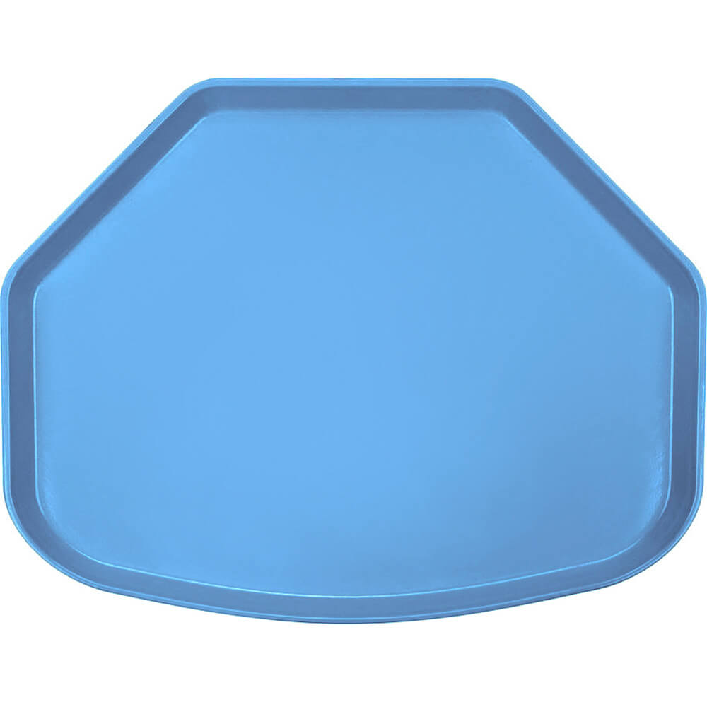 "Horizon Blue, 15"" x 20"" Trapezoid Food Trays, Fiberglass, 12/PK"
