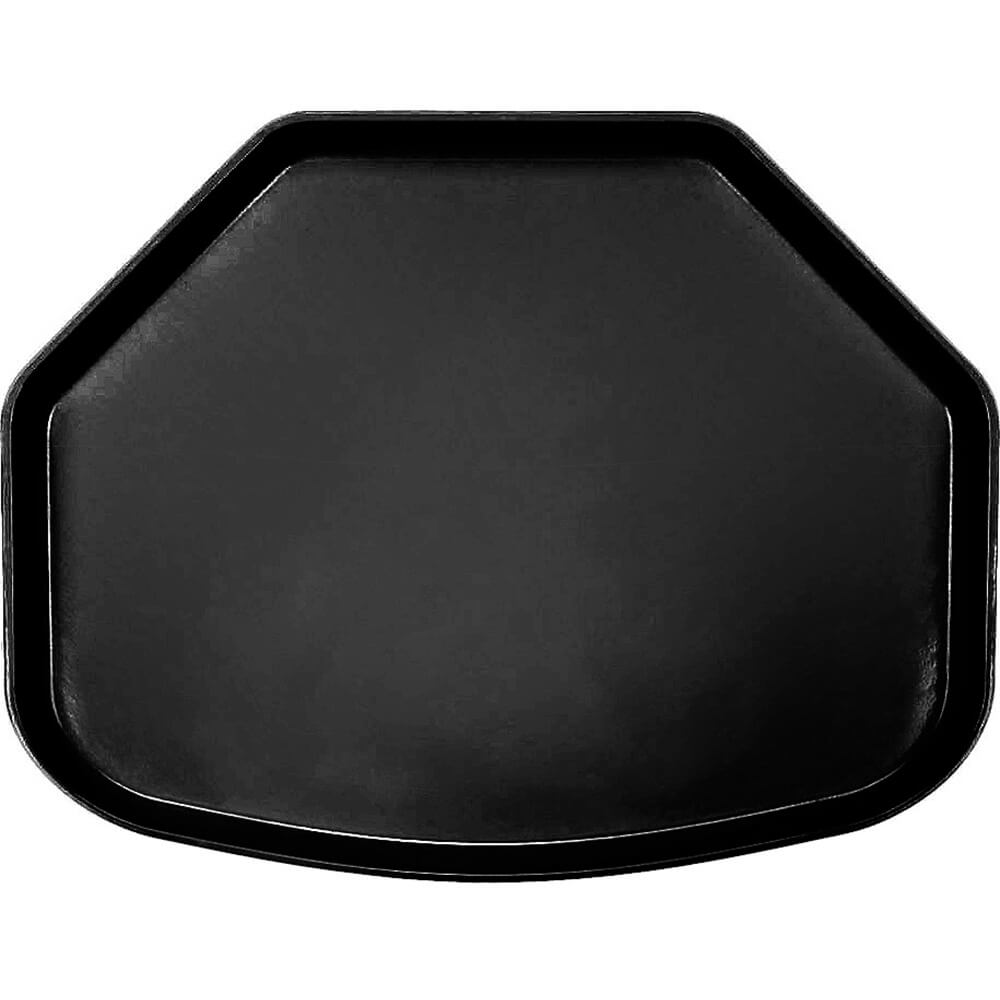 "Black, 15"" x 20"" Trapezoid Food Trays, Fiberglass, 12/PK"