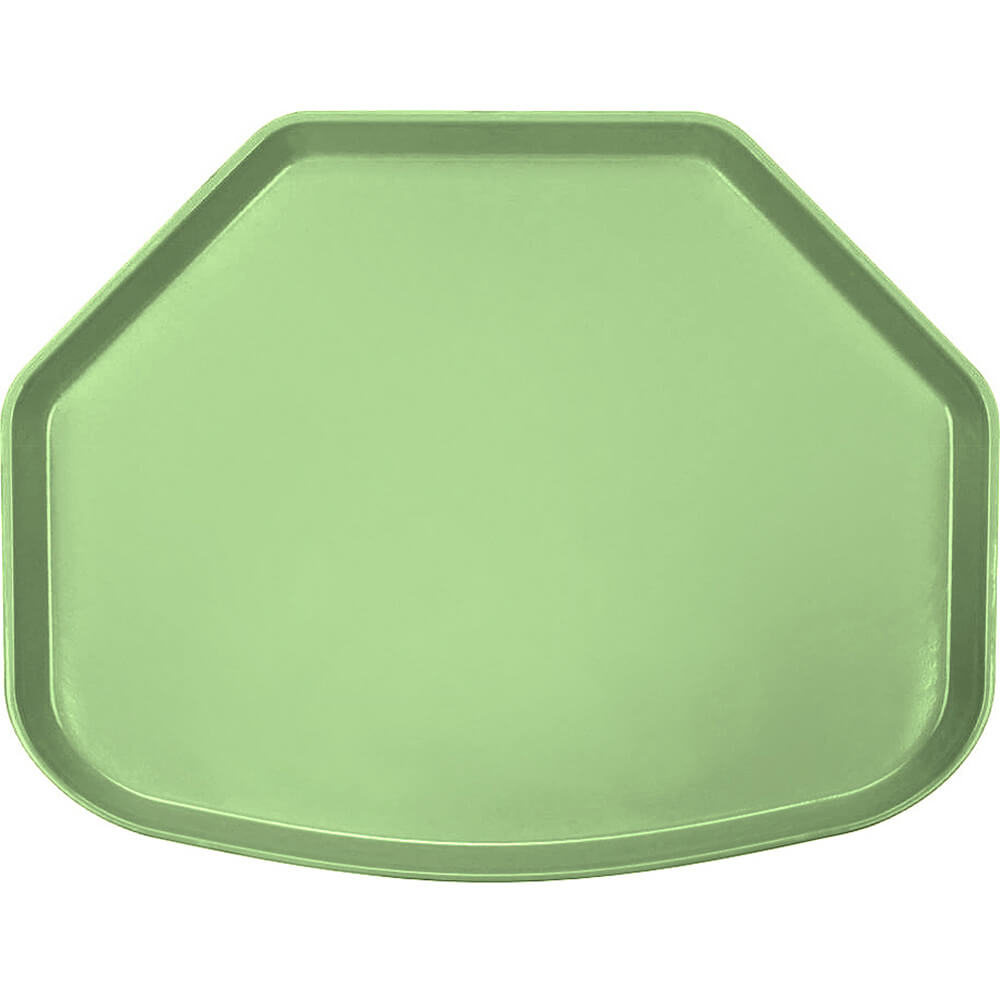 "Lime-Ade, 15"" x 20"" Trapezoid Food Trays, Fiberglass, 12/PK"
