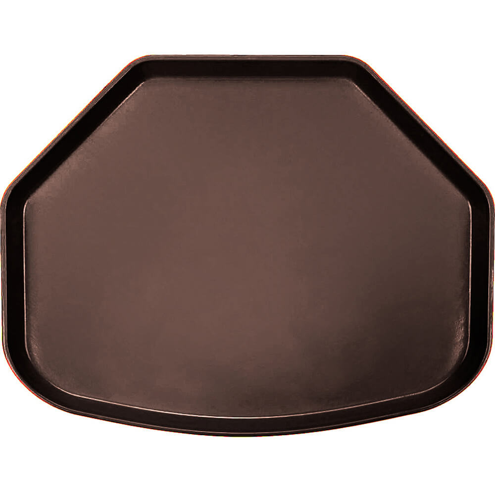 "Brazil Brown, 15"" x 20"" Trapezoid Food Trays, Fiberglass, 12/PK"