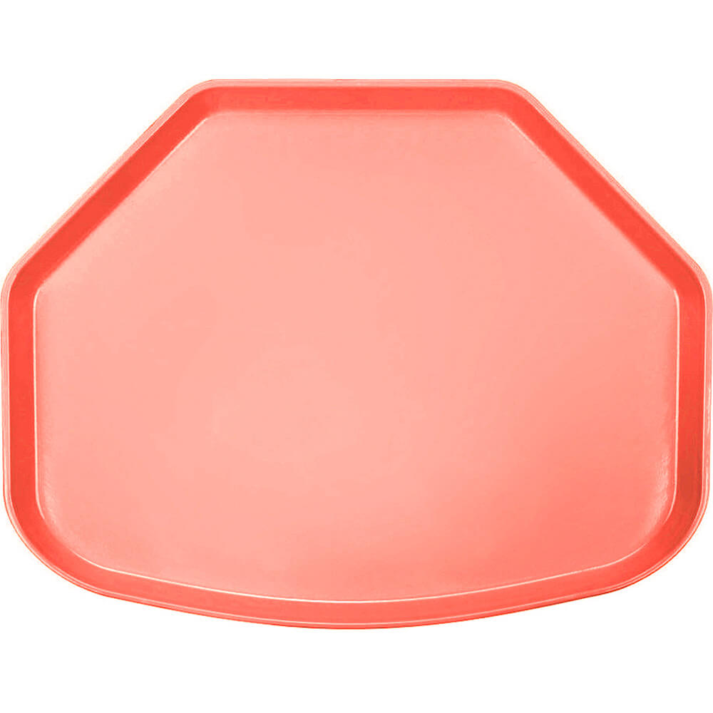 "Dark Peach, 15"" x 20"" Trapezoid Food Trays, Fiberglass, 12/PK"