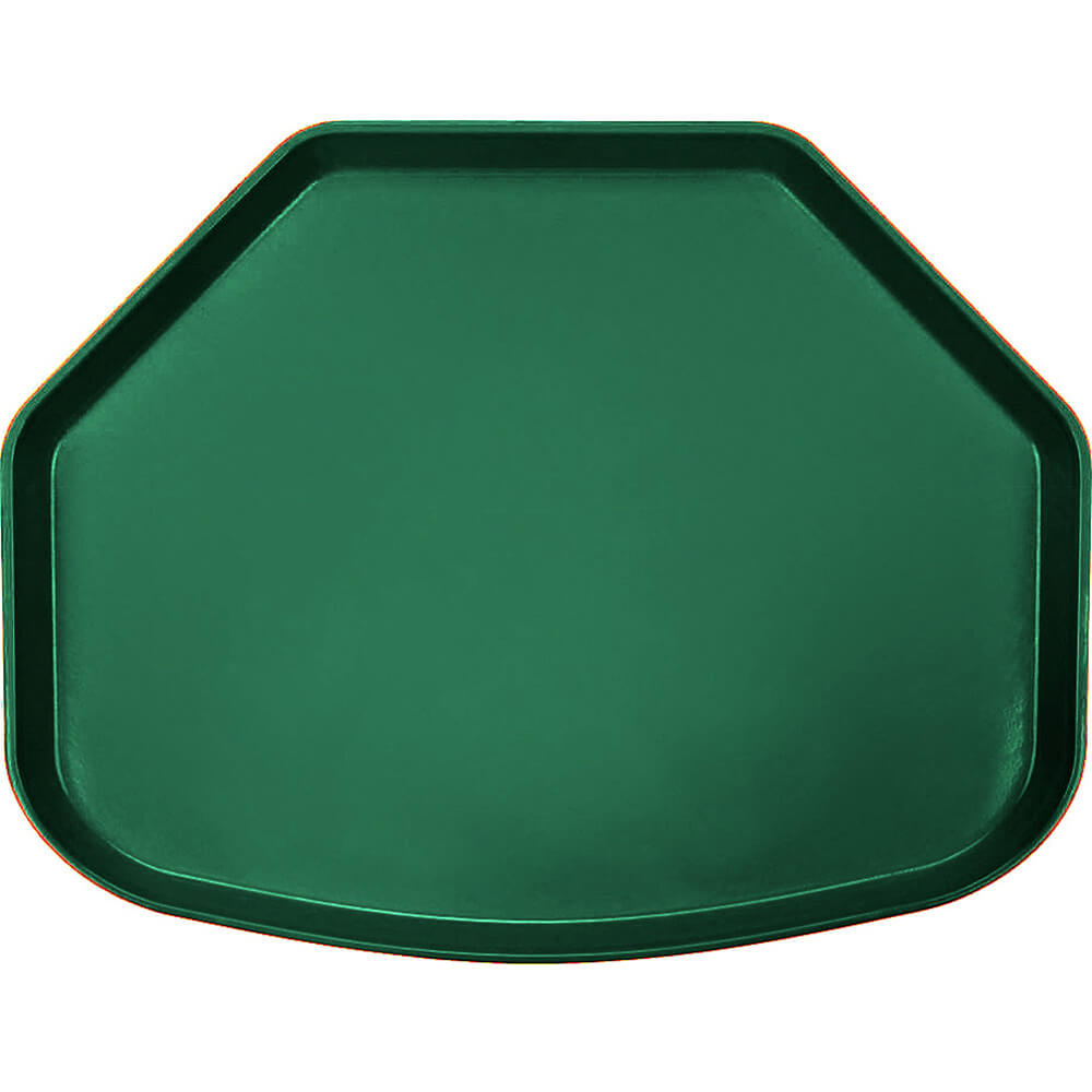 "Sherwood Green, 15"" x 20"" Trapezoid Food Trays, Fiberglass, 12/PK"