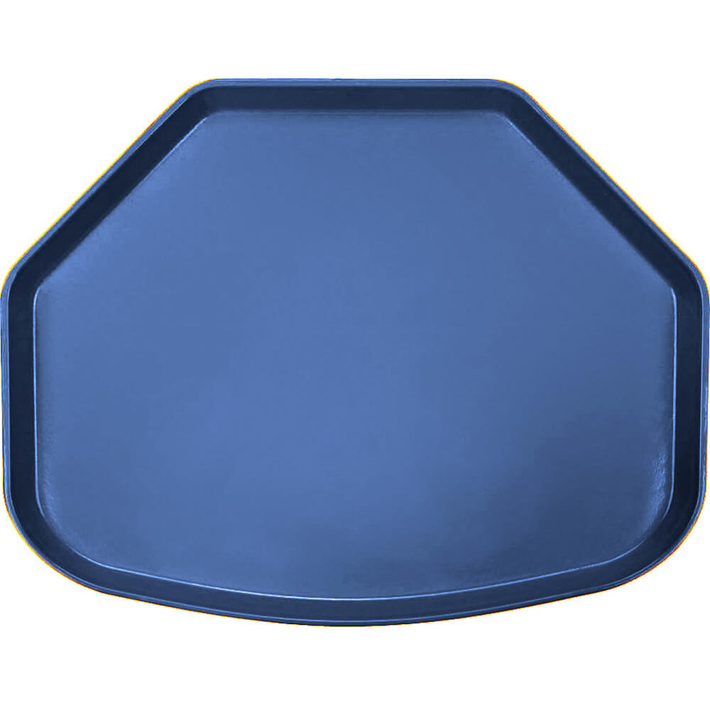 "Amazon Blue, 15"" x 20"" Trapezoid Food Trays, Fiberglass, 12/PK"