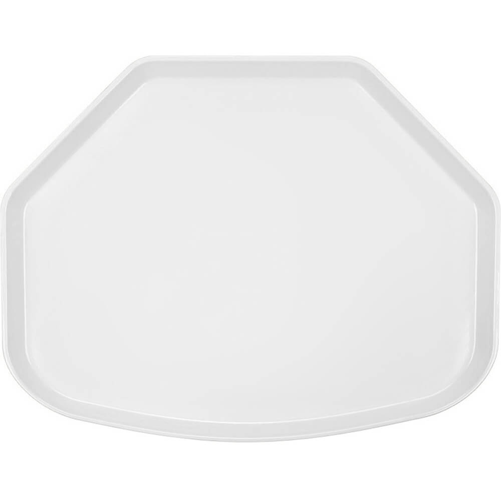 "White, 15"" x 20"" Trapezoid Food Trays, Fiberglass, 12/PK"
