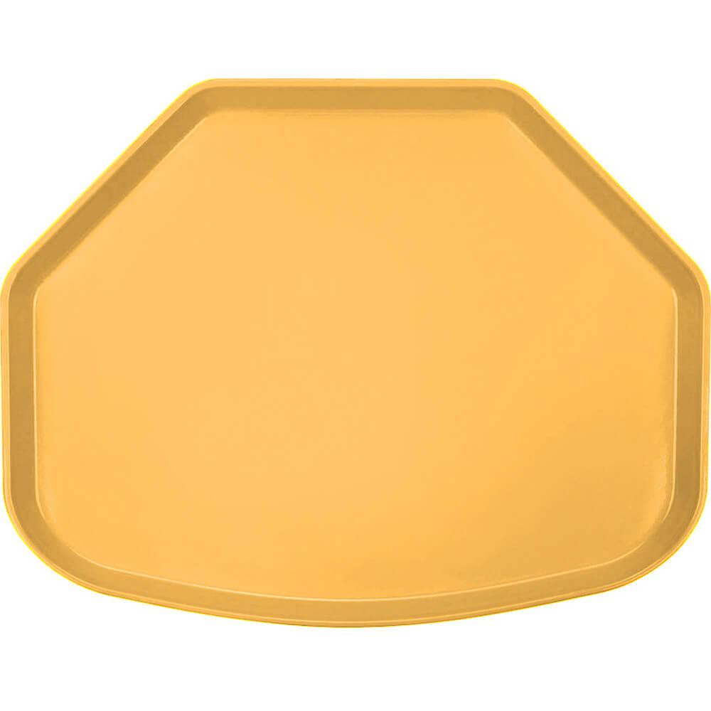 "Tuscan Gold, 15"" x 20"" Trapezoid Food Trays, Fiberglass, 12/PK"