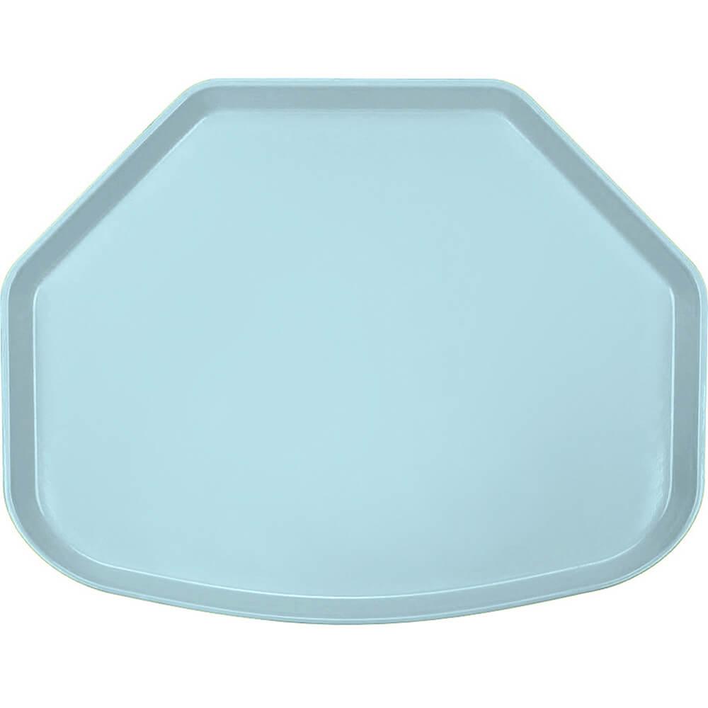 "Sky Blue, 15"" x 20"" Trapezoid Food Trays, Fiberglass, 12/PK"