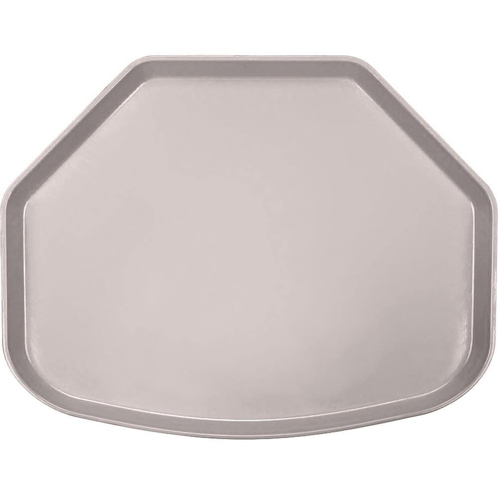 "Taupe, 15"" x 20"" Trapezoid Food Trays, Fiberglass, 12/PK"