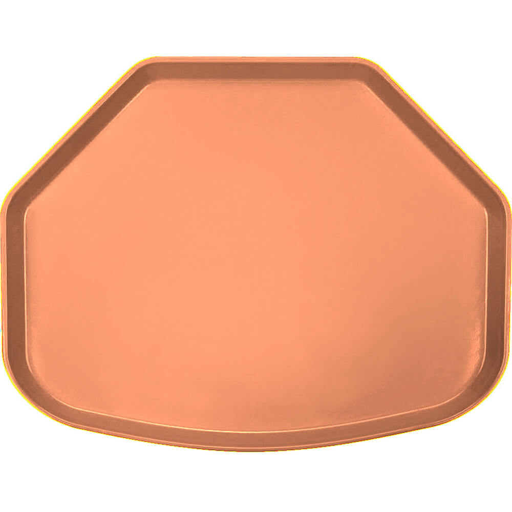 "Orange Pizazz, 15"" x 20"" Trapezoid Food Trays, Fiberglass, 12/PK"