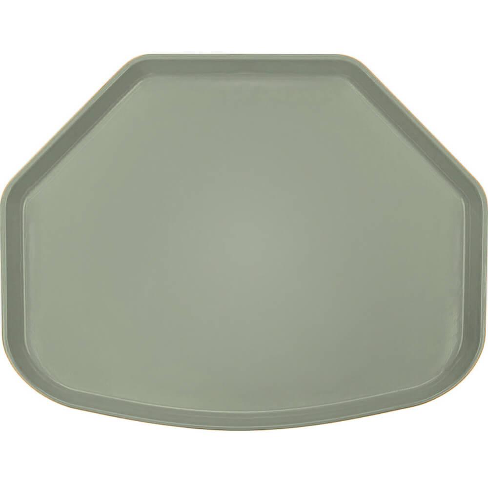 """Olive Green, 15"""" x 20"""" Trapezoid Food Trays, Fiberglass, 12/PK"""