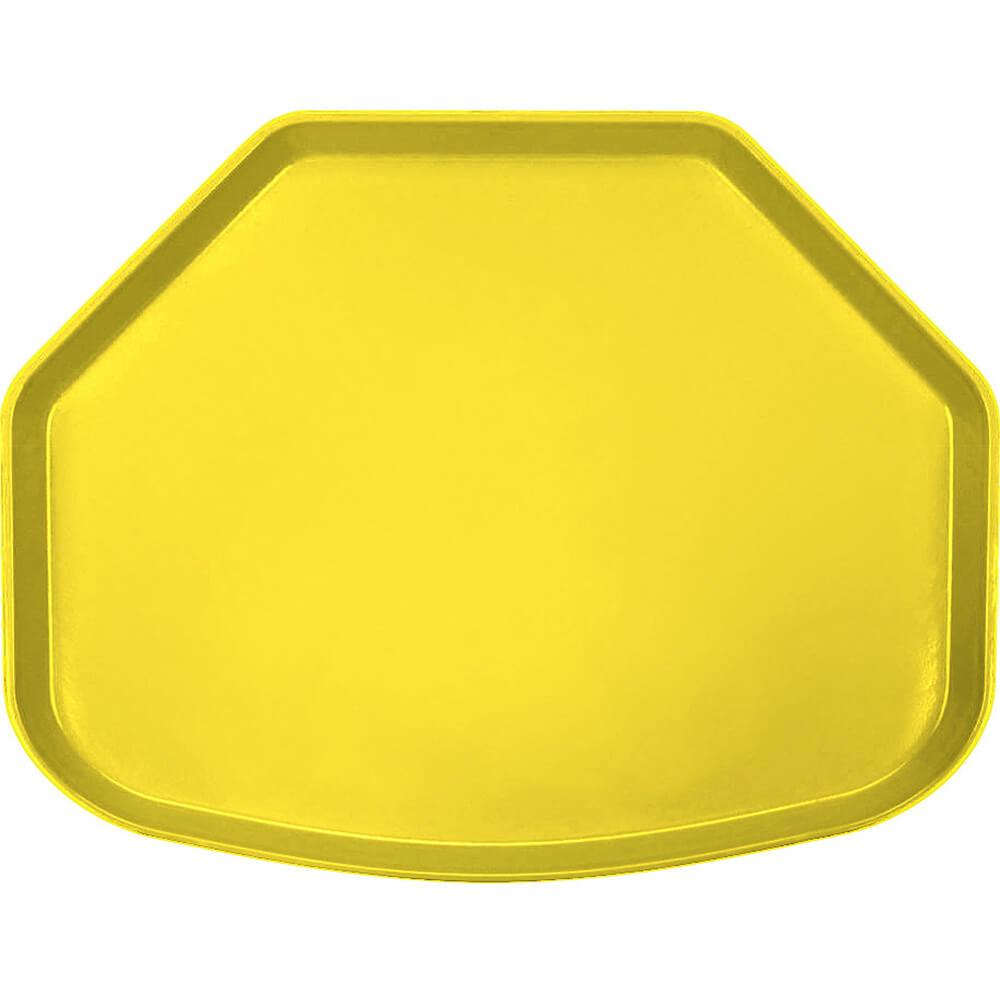 """Mustard, 15"""" x 20"""" Trapezoid Food Trays, Fiberglass, 12/PK"""