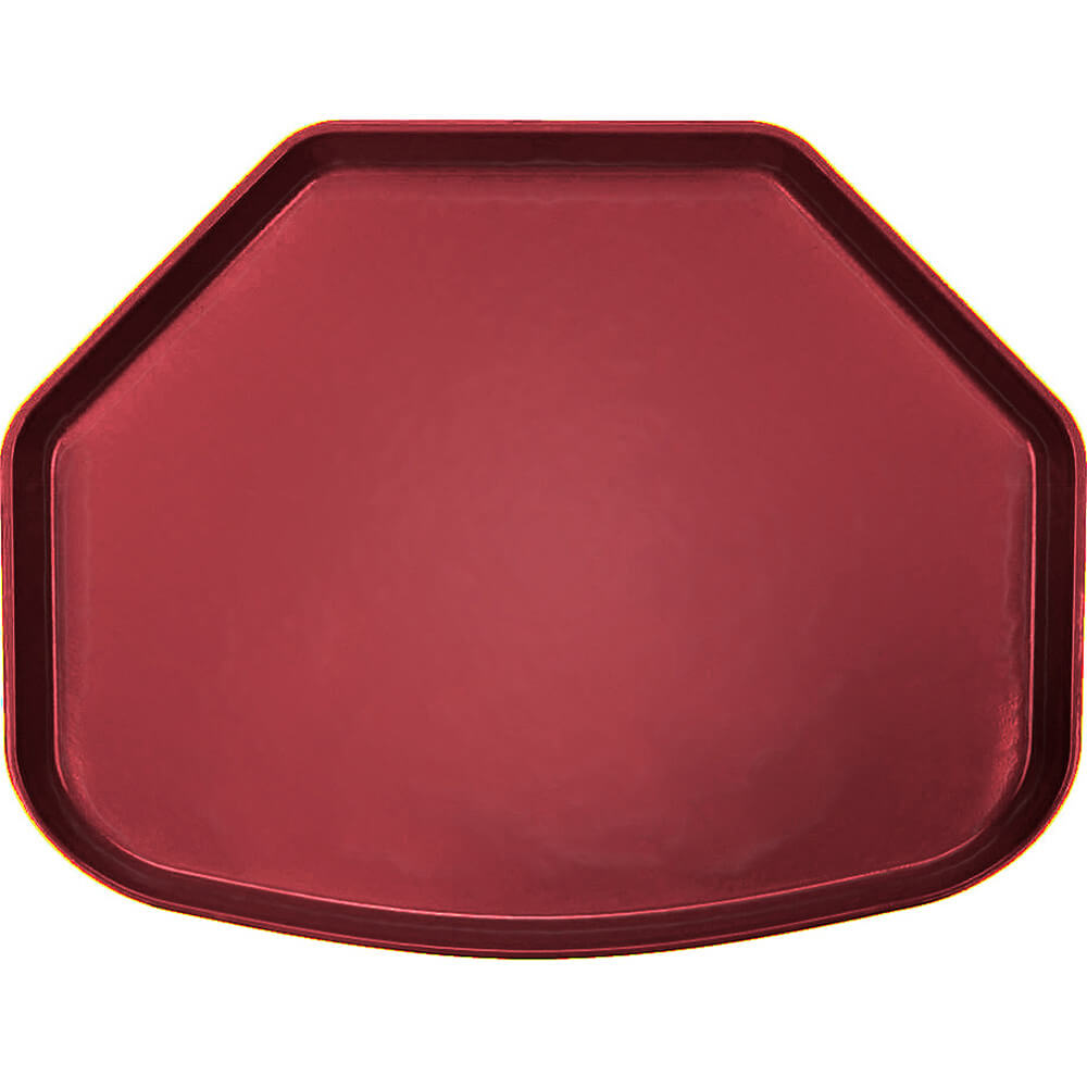 "Cherry Red, 15"" x 20"" Trapezoid Food Trays, Fiberglass, 12/PK"