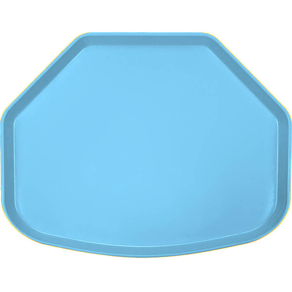 "Robin Egg Blue, 15"" x 20"" Trapezoid Food Trays, Fiberglass, 12/PK"
