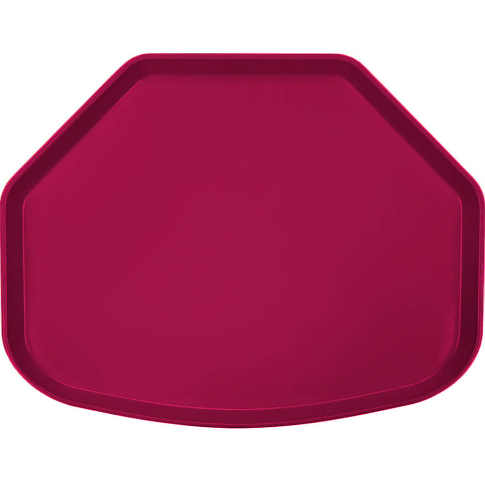 "Burgundy Wine, 15"" x 20"" Trapezoid Food Trays, Fiberglass, 12/PK"