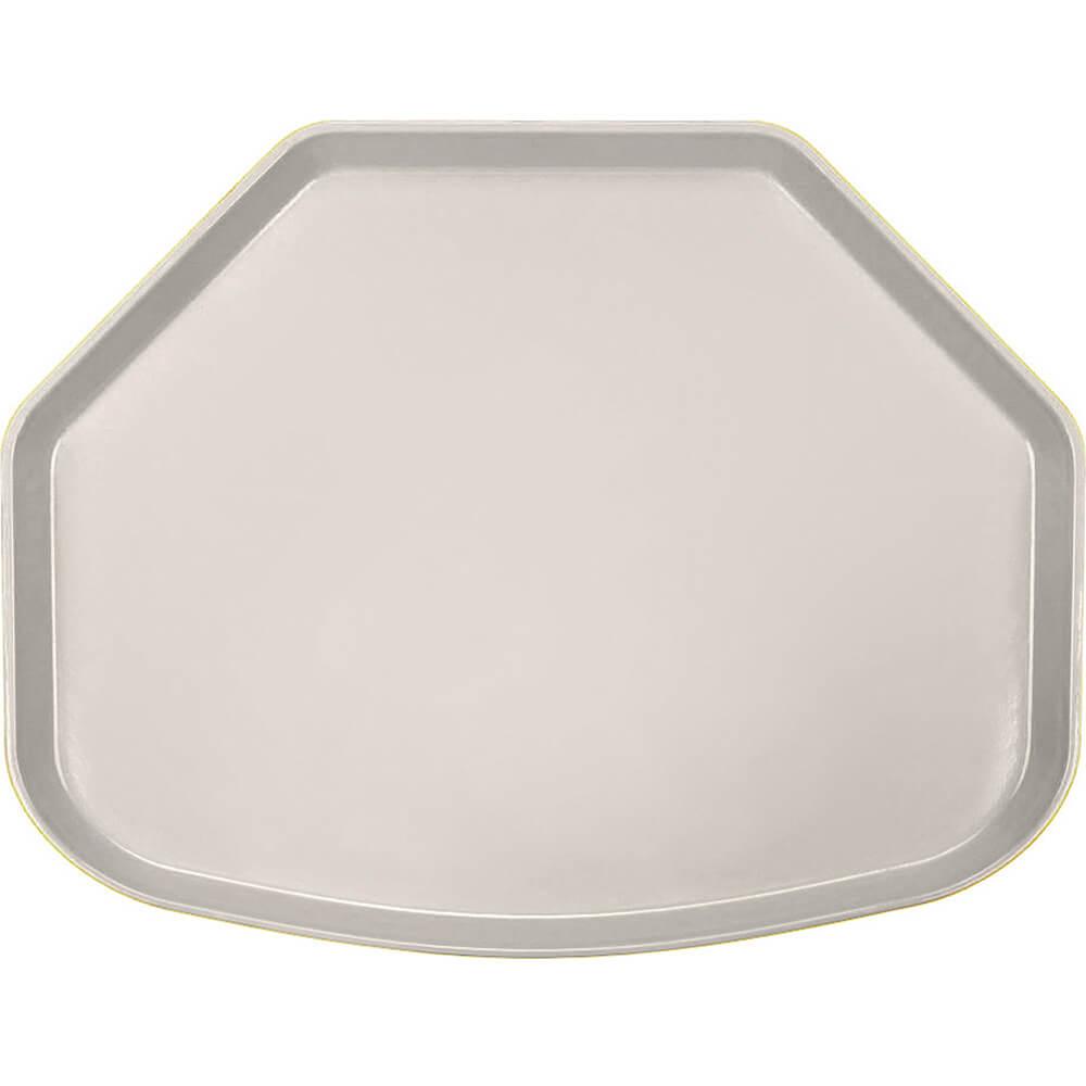 "Cottage White, 15"" x 20"" Trapezoid Food Trays, Fiberglass, 12/PK"