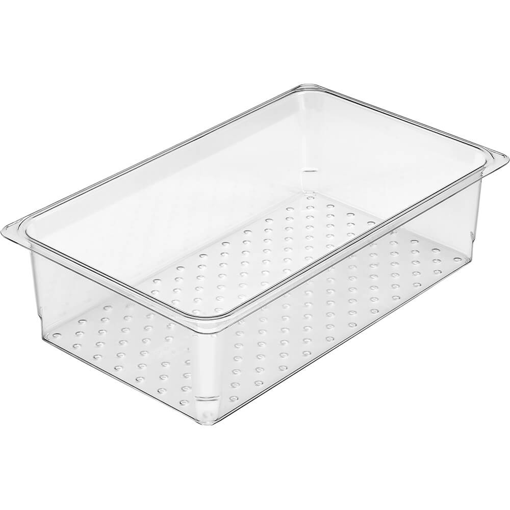 "Clear, Perforated Pan / Colander, GN 1/1, 5"" Deep, 6/PK"
