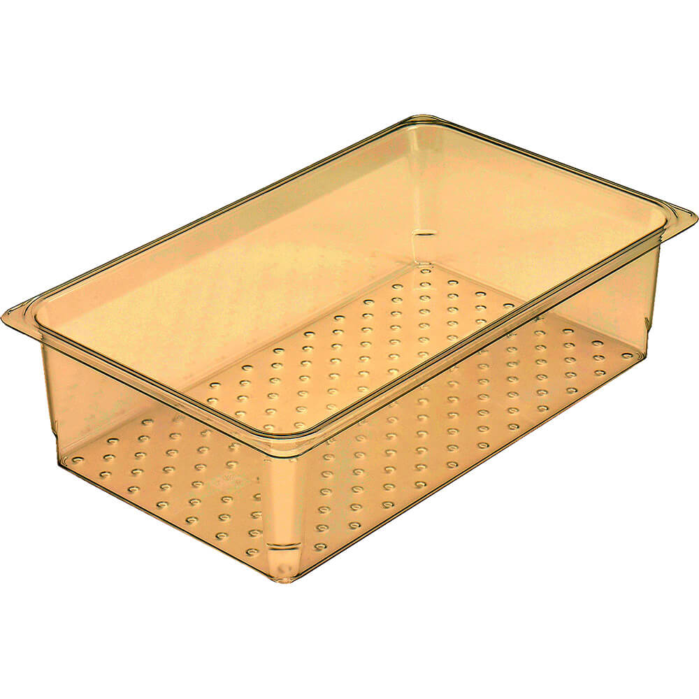 "Amber, High Heat Perforated Pan / Colander, GN 1/1, 5"" Deep, 6/PK"