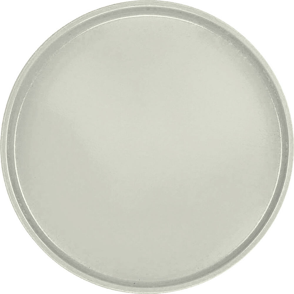 "Antique Parchment, 19-1/2"" Low Profile Round Serving Tray, Fiberglass, 12/PK"