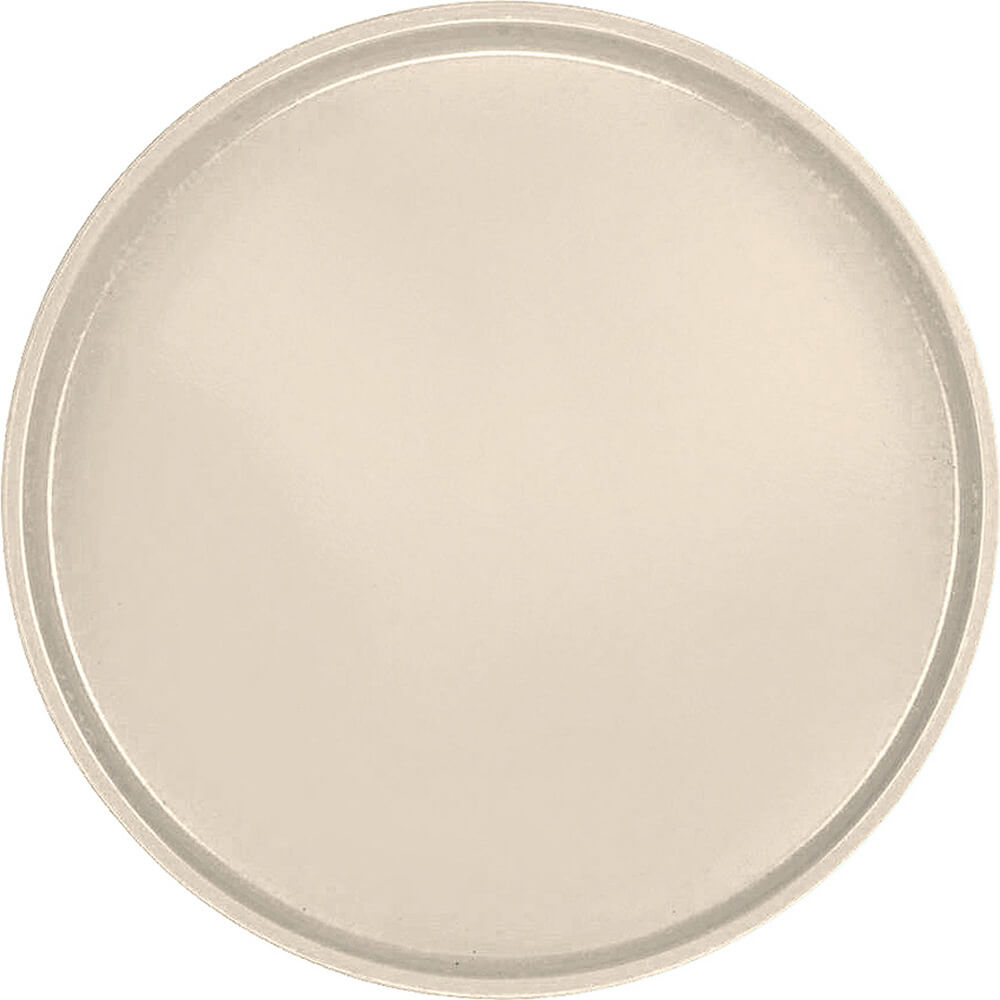 "Desert Tan, 19-1/2"" Low Profile Round Serving Tray, Fiberglass, 12/PK"