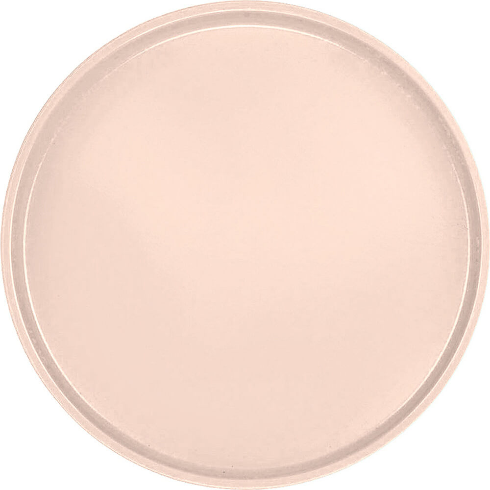 "Light Peach, 16"" Round Serving Tray, Fiberglass, 12/PK"