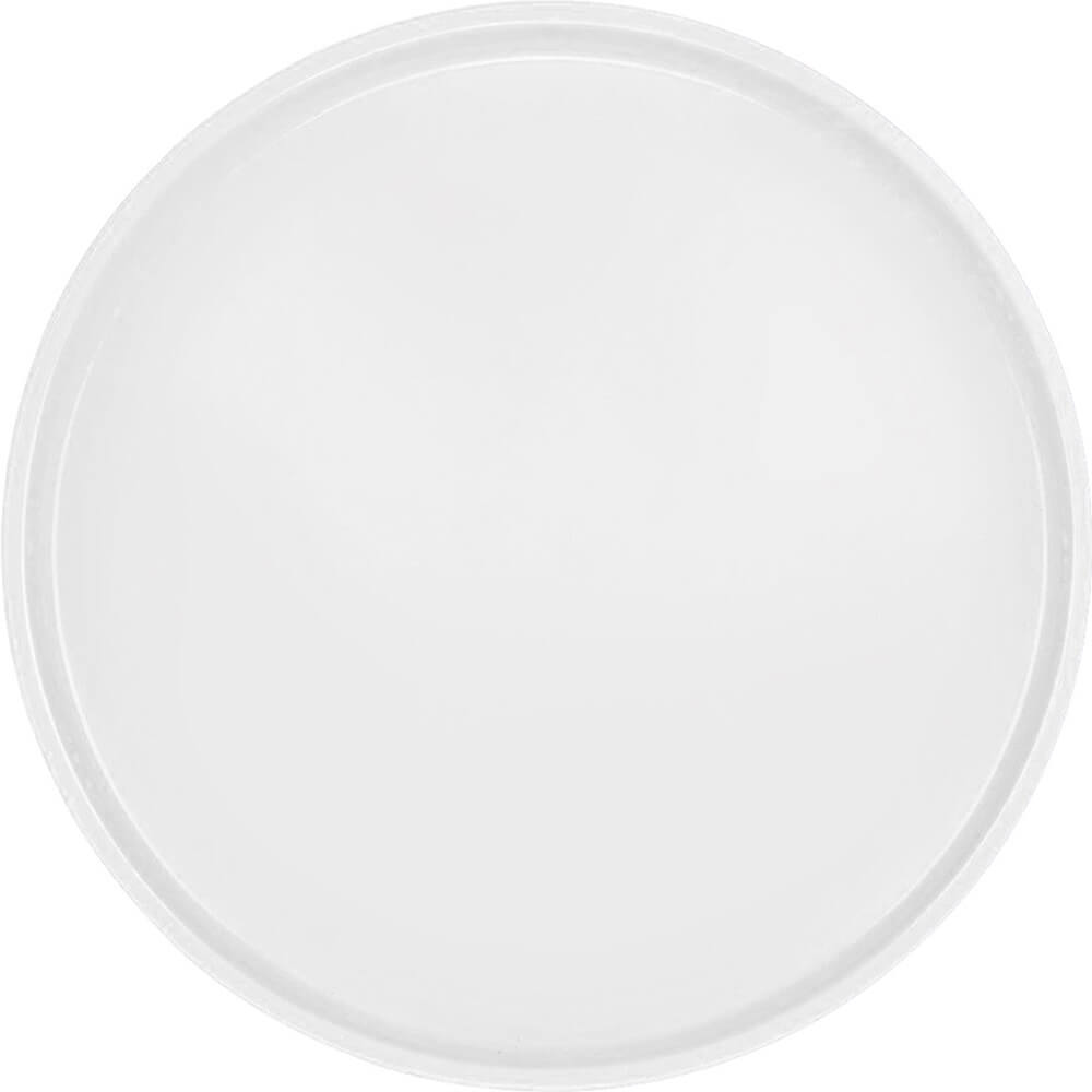 "White, 19-1/2"" Low Profile Round Serving Tray, Fiberglass, 12/PK"