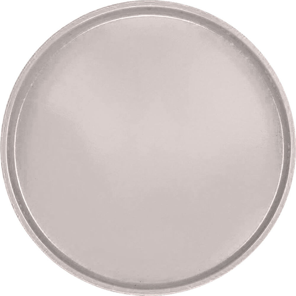 "Taupe, 19-1/2"" Low Profile Round Serving Tray, Fiberglass, 12/PK"