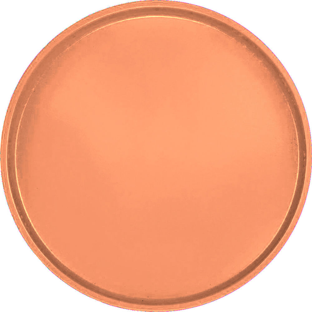 "Orange Pizazz, 19-1/2"" Low Profile Round Serving Tray, Fiberglass, 12/PK"