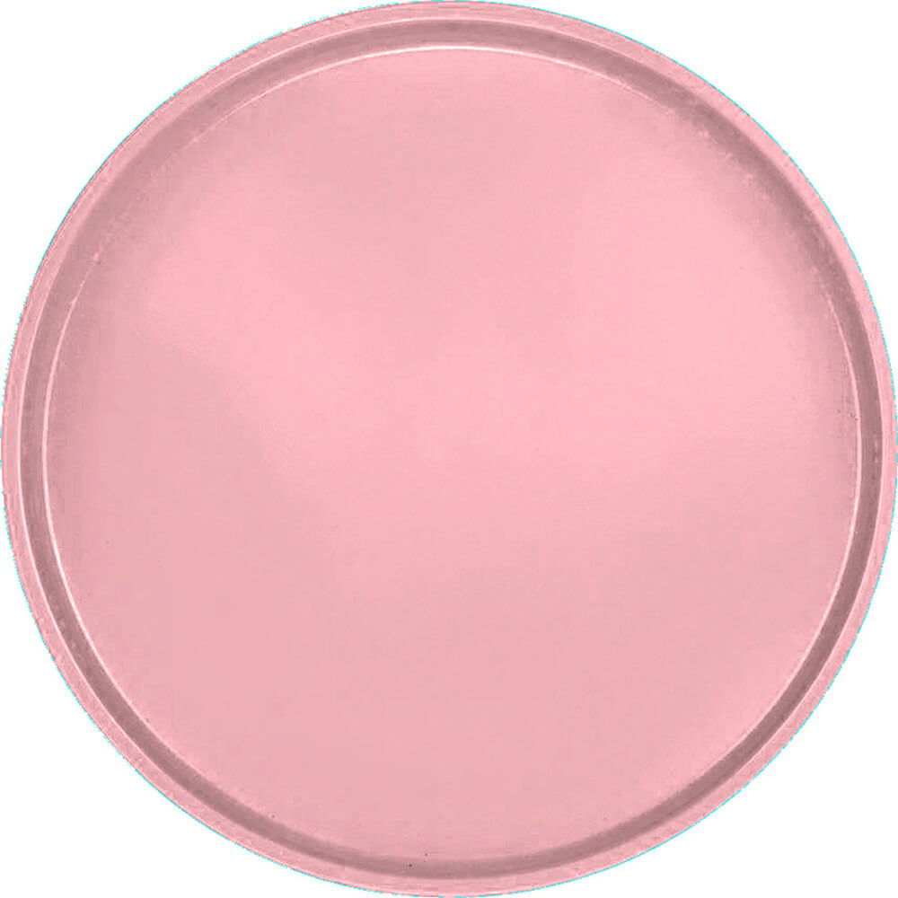"Raspberry Cream, 19-1/2"" Low Profile Round Serving Tray, Fiberglass, 12/PK"