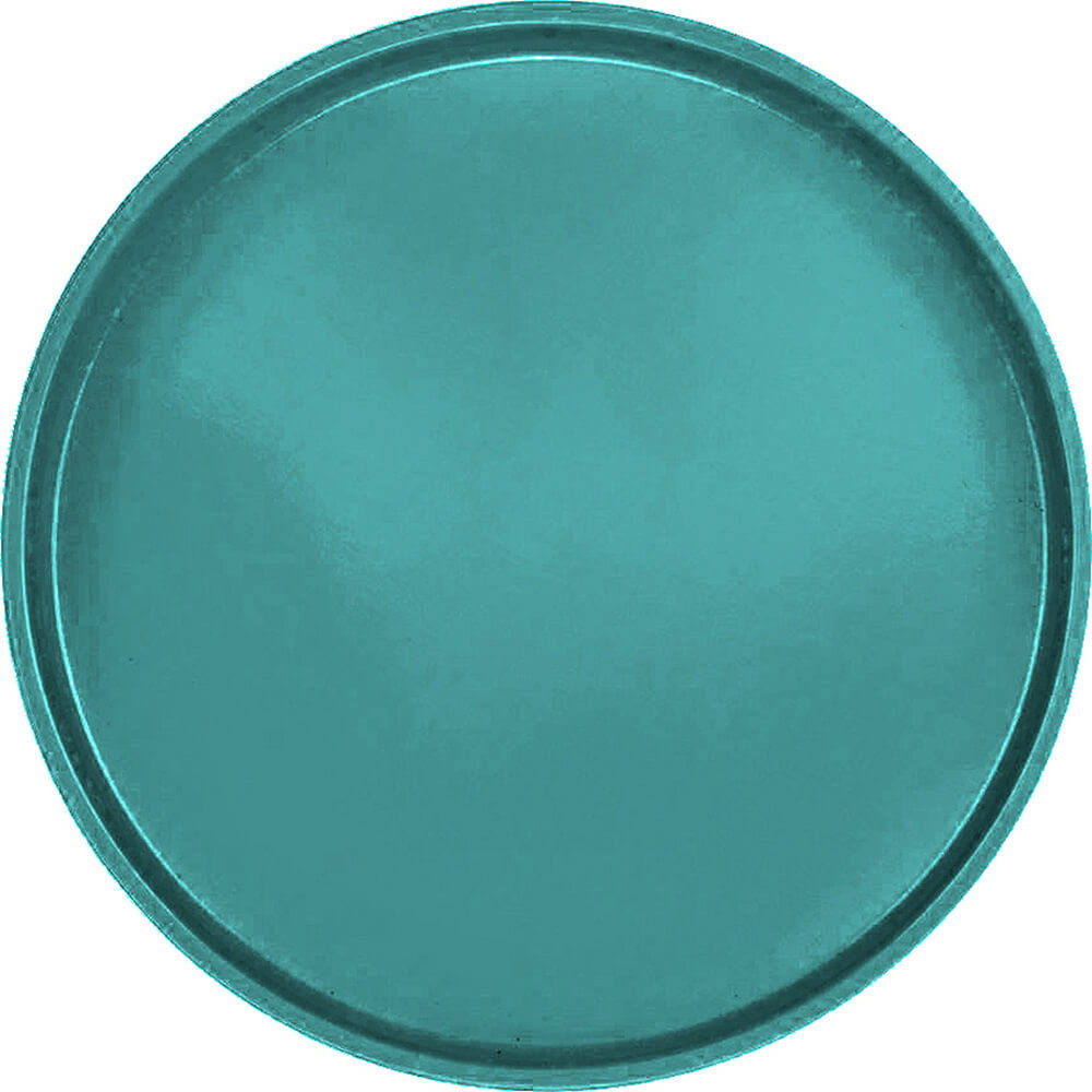 "Teal, 19-1/2"" Low Profile Round Serving Tray, Fiberglass, 12/PK"