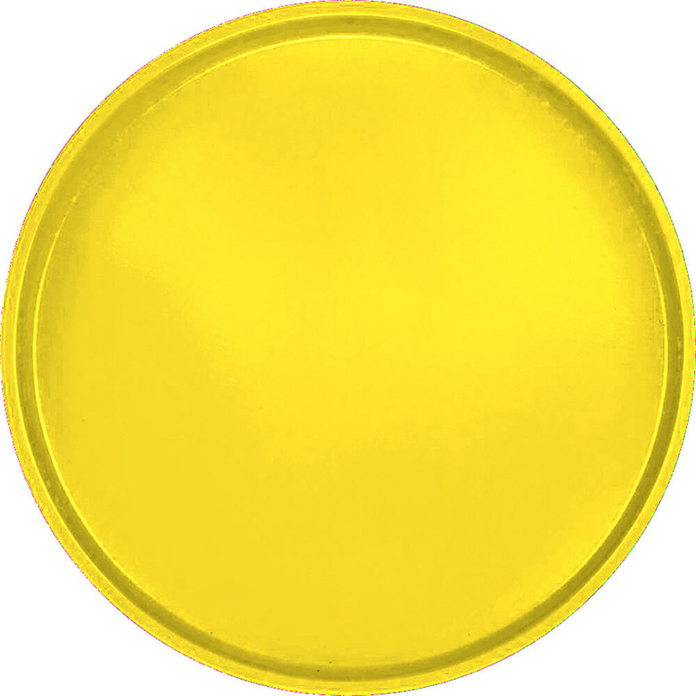 "Mustard, 19-1/2"" Low Profile Round Serving Tray, Fiberglass, 12/PK"