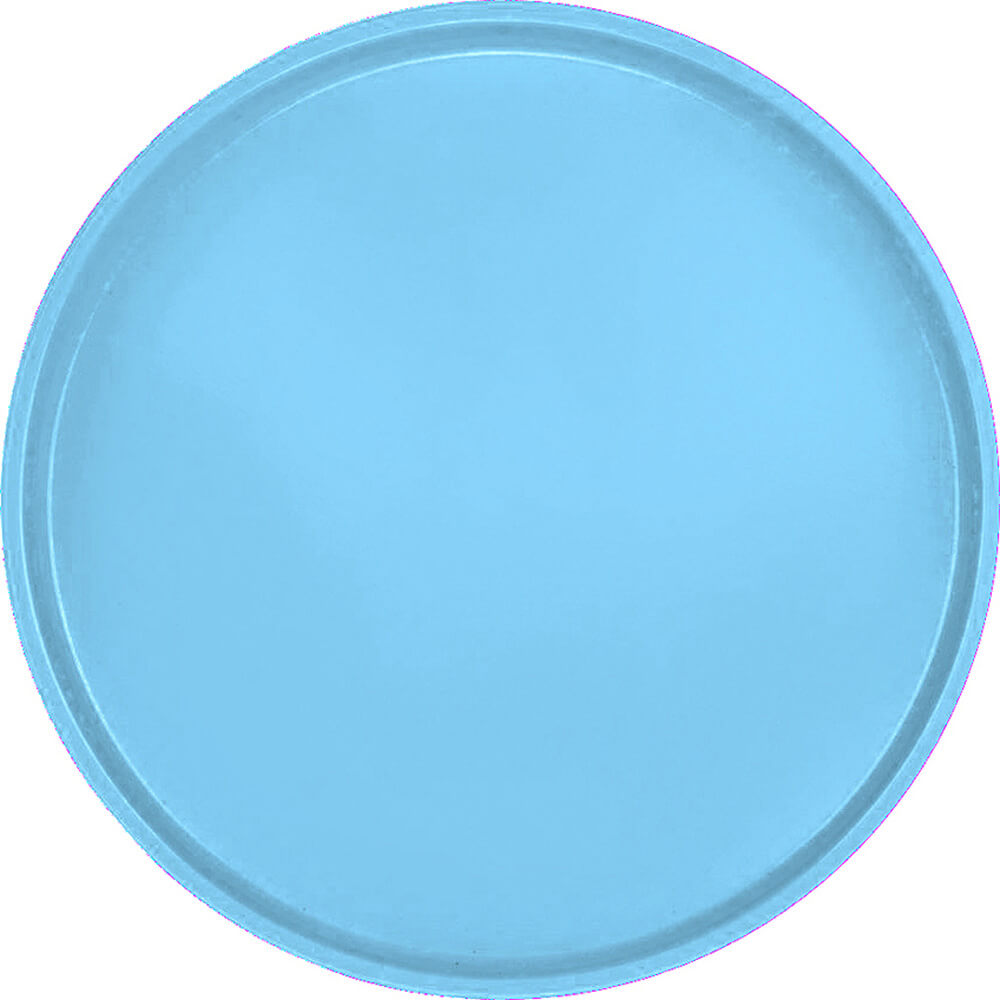 "Robin Egg Blue, 16"" Round Serving Tray, Fiberglass, 12/PK"