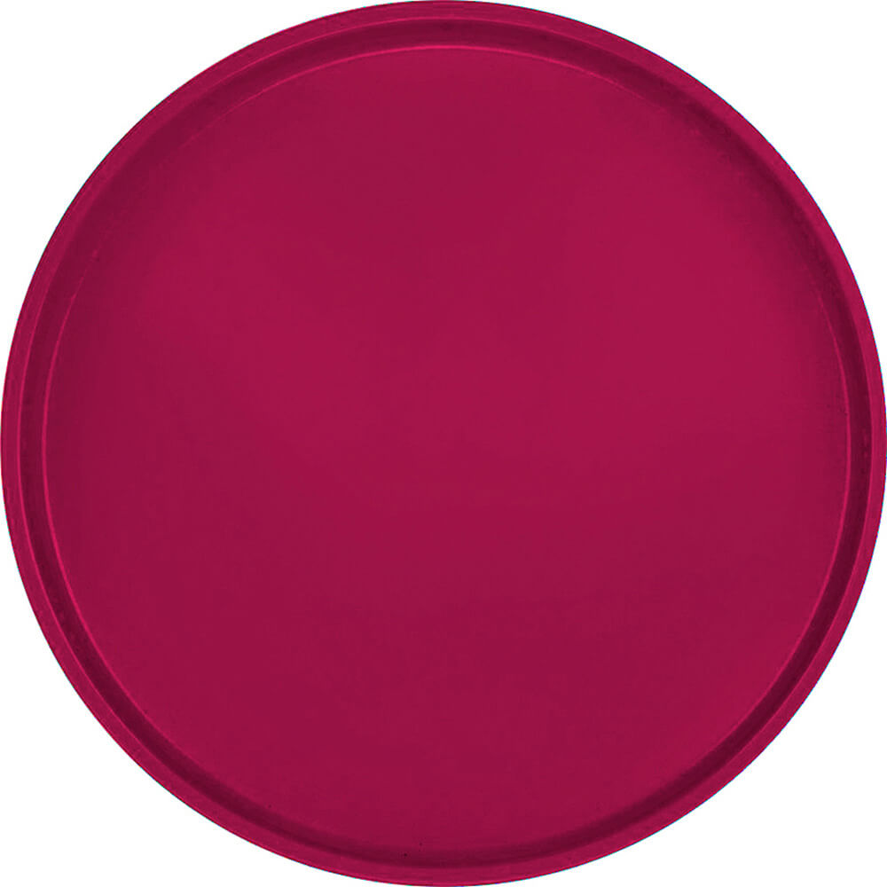 "Burgundy Wine, 16"" Round Serving Tray, Fiberglass, 12/PK"
