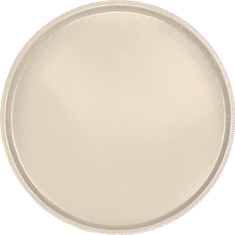 "Cameo Yellow, 19-1/2"" Low Profile Round Serving Tray, Fiberglass, 12/PK"