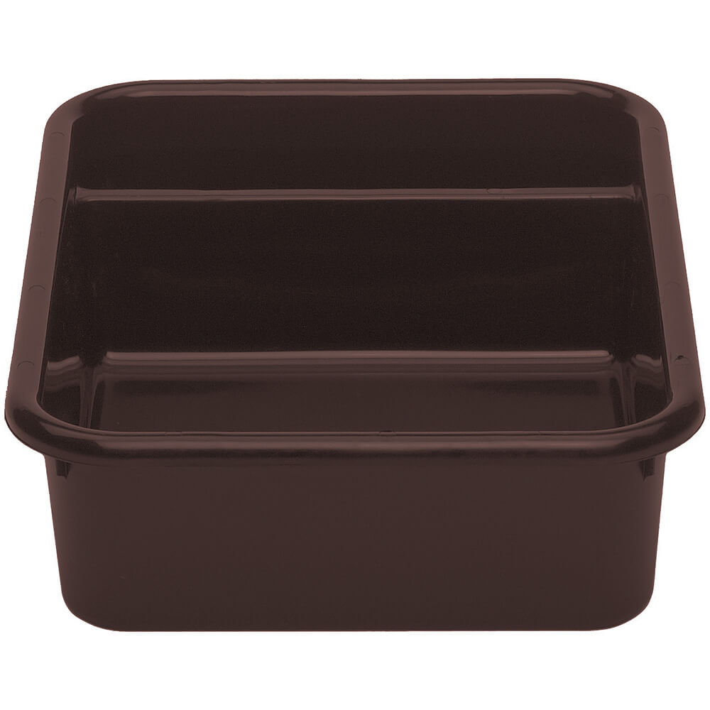"Dark Brown, 24"" X 21"" Plastic Bus Boxes, 12/PK"