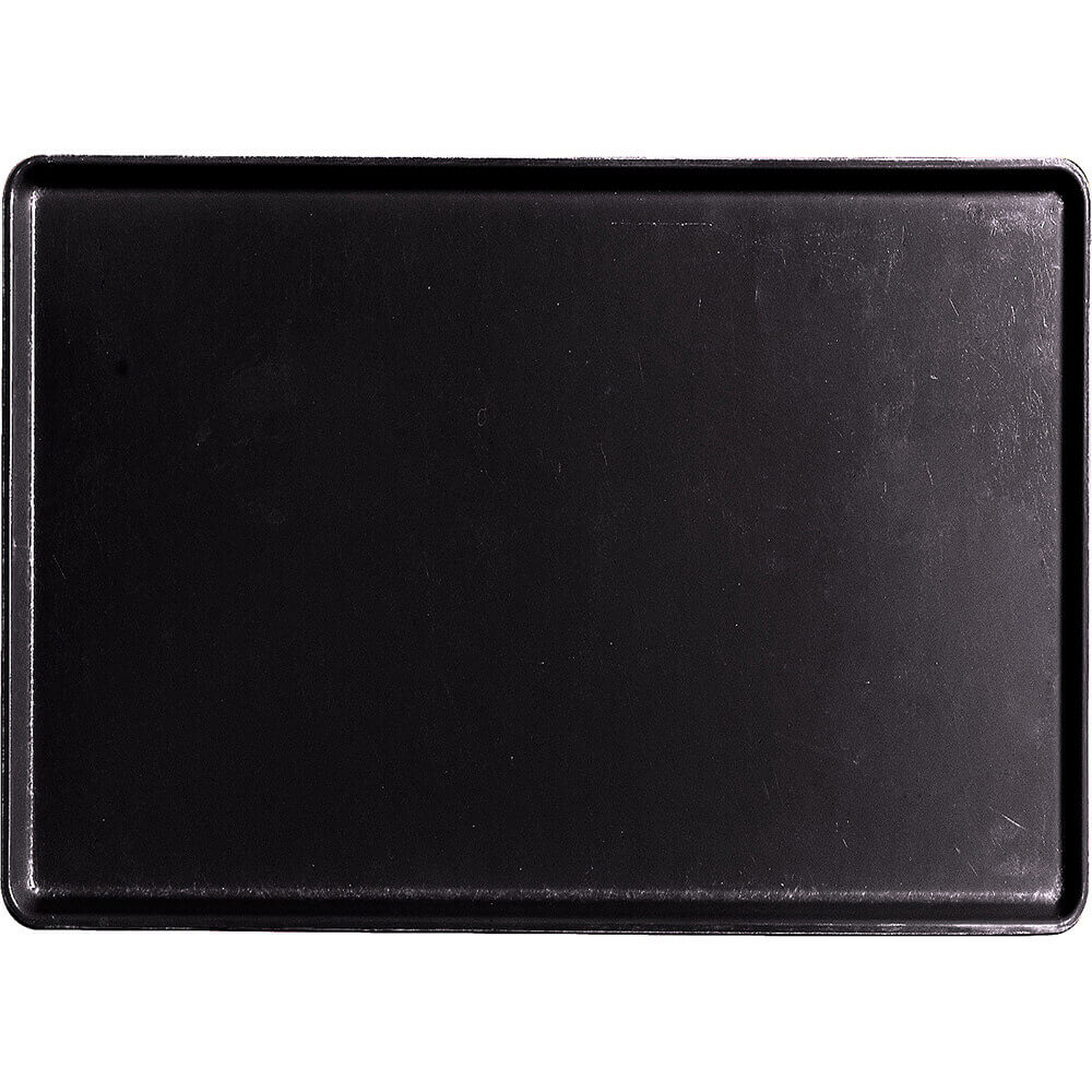 "Black, 16"" x 22"" Healthcare Food Trays, Low Profile, 12/PK"