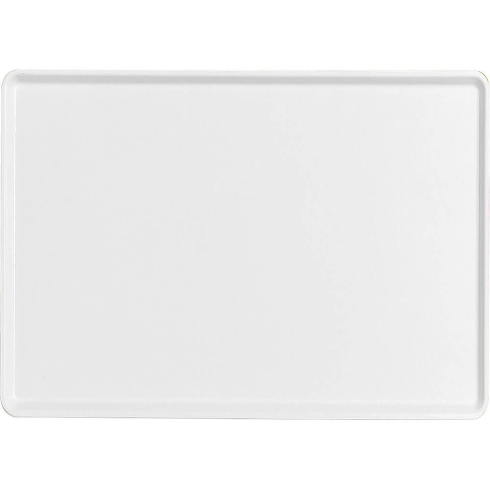 "White, 16"" x 22"" Healthcare Food Trays, Low Profile, 12/PK"