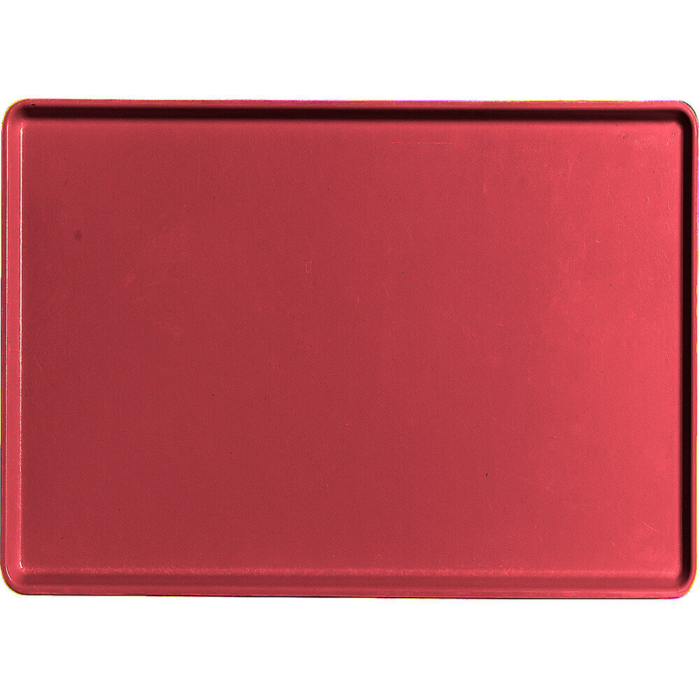 "Ever Red, 16"" x 22"" Healthcare Food Trays, Low Profile, 12/PK"