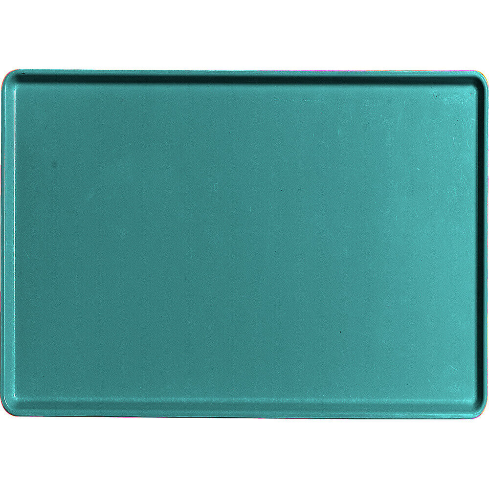 "Teal, 16"" x 22"" Healthcare Food Trays, Low Profile, 12/PK"