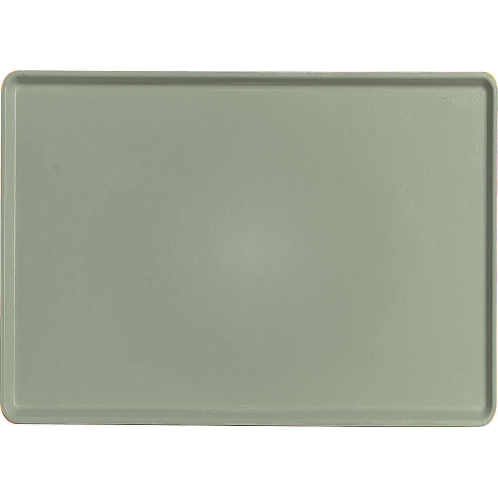"Olive Green, 16"" x 22"" Healthcare Food Trays, Low Profile, 12/PK"